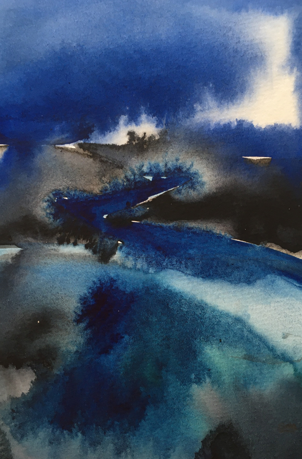 The Cleddau, Pembrokeshire by  Stephen M.Redpath