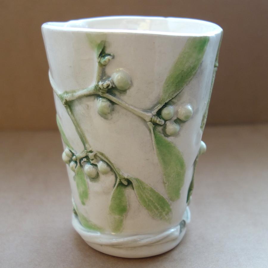 Sue Dunne Mistletoe Beaker