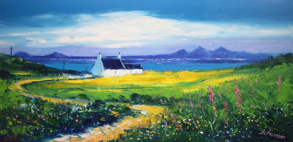 The Paps of Jura From Isle of Gigha by John Lowrie Morrison OBE (Jolomo)