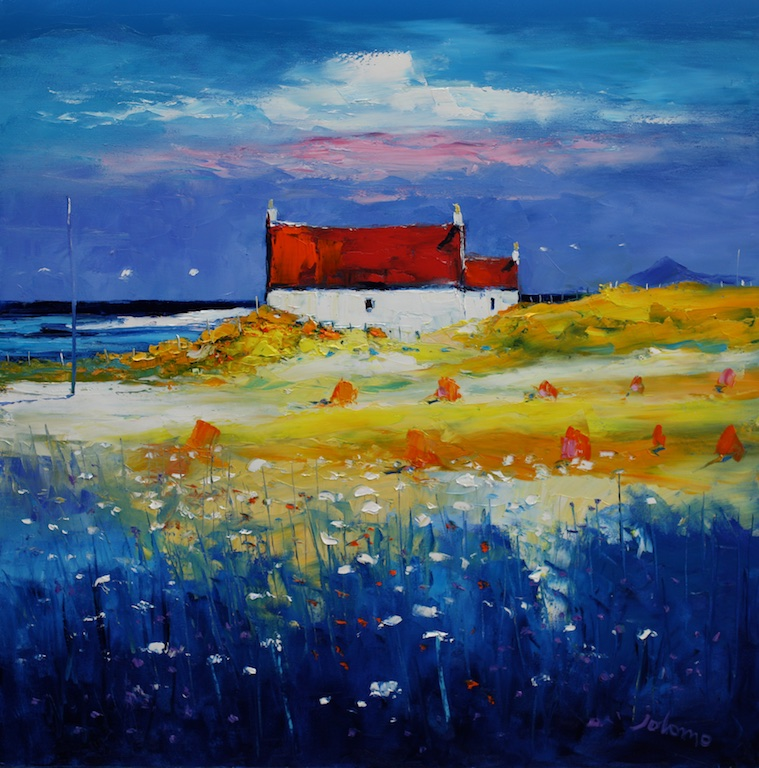 Wild Flowers and Haystacks Isle of Tiree by John Lowrie Morrison  (Jolomo)