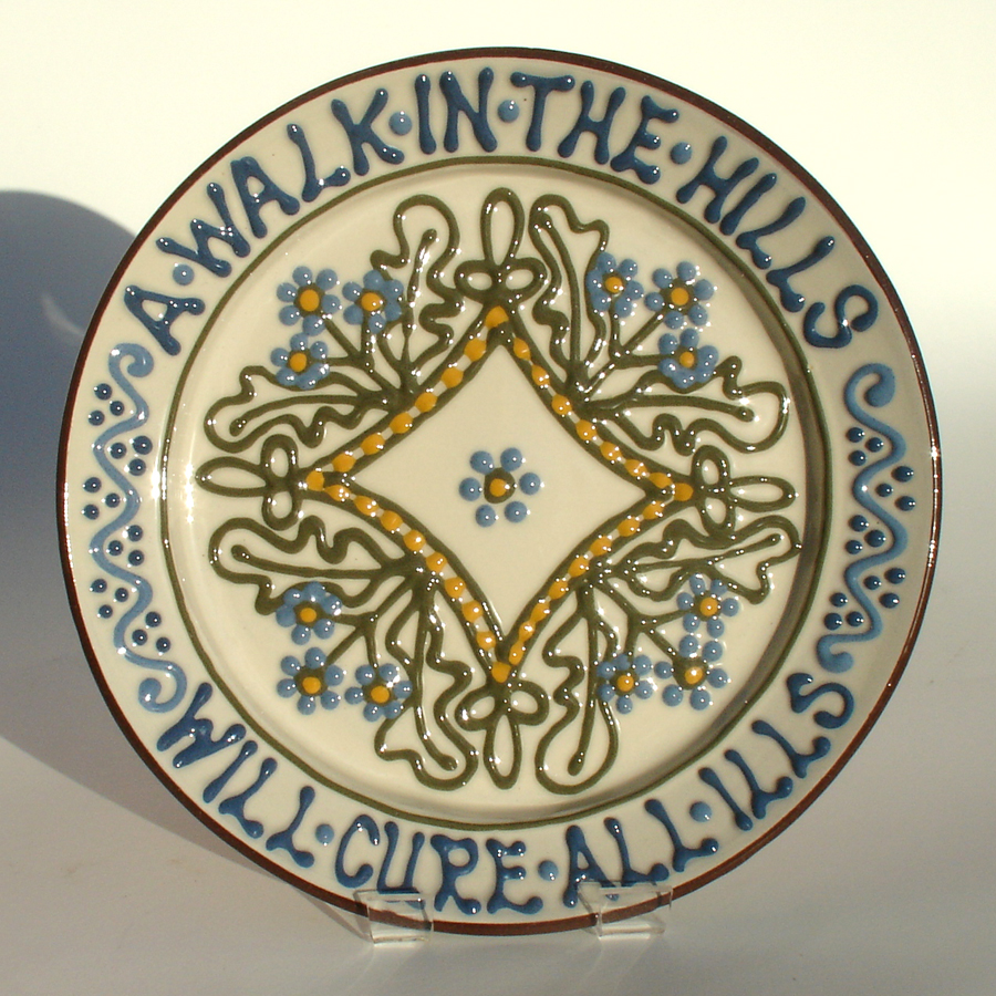 A Walk in the Hills - slipware by Alsager Pottery