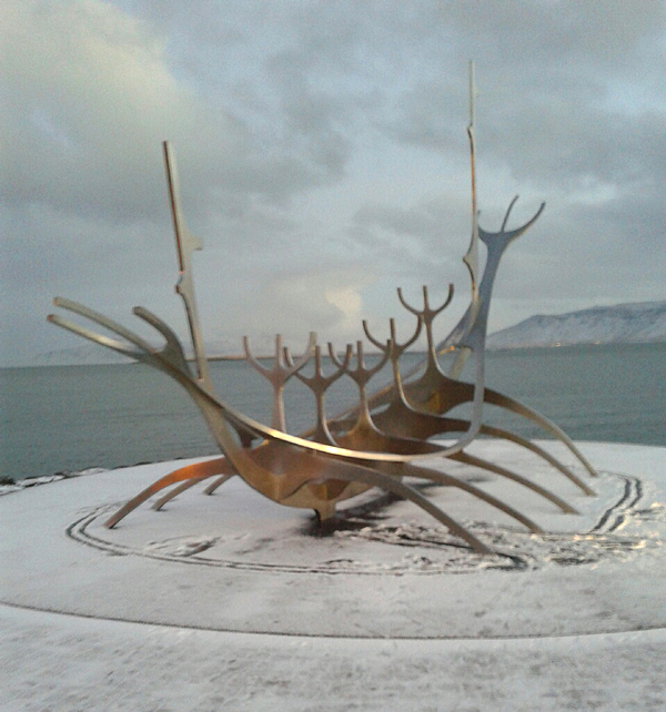 Boat sculpture, Iceland