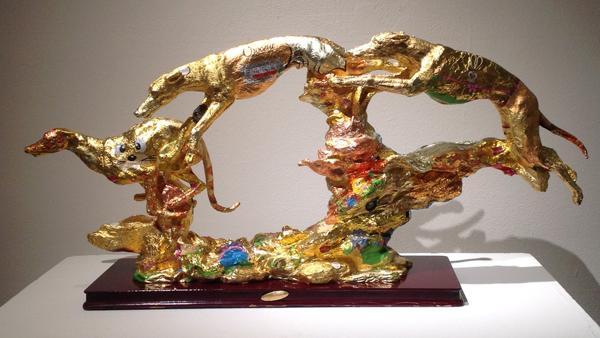 Gold Rush - foiled sculpture - Robert Mach
