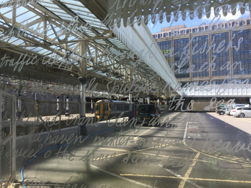 Aberdeen Railway station etched glass installation