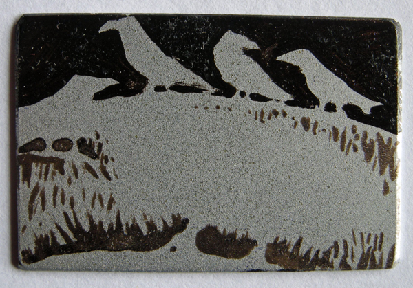 Gathering 2 — etching by Kitty Watt
