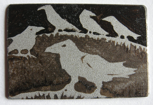 Gathering 3 — etching by Kitty Watt