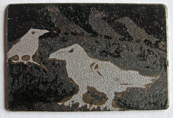 Gathering 4 — etching by Kitty Watt