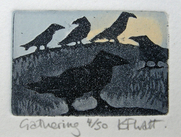 Gathering 6 — etching by Kitty Watt
