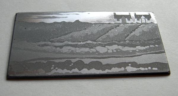 Kitty Watt etching process