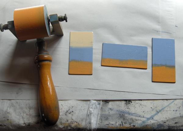 Kitty Watt etching process 2
