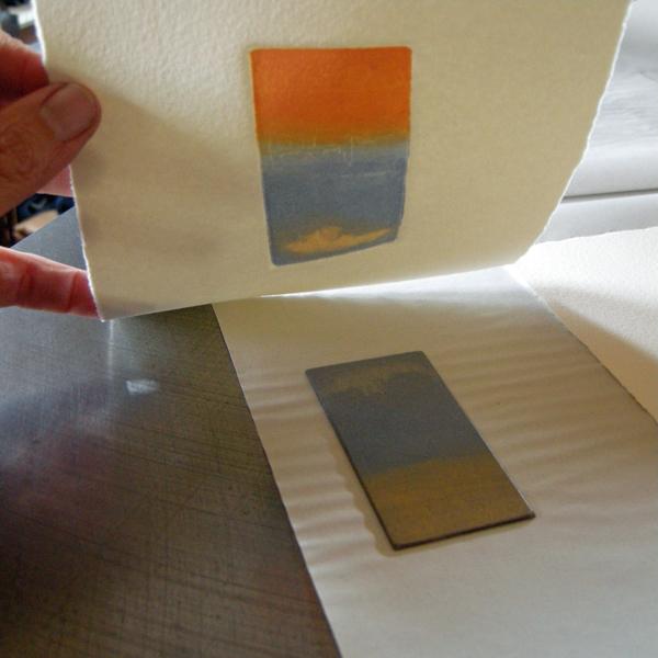Kitty Watt etching process 5
