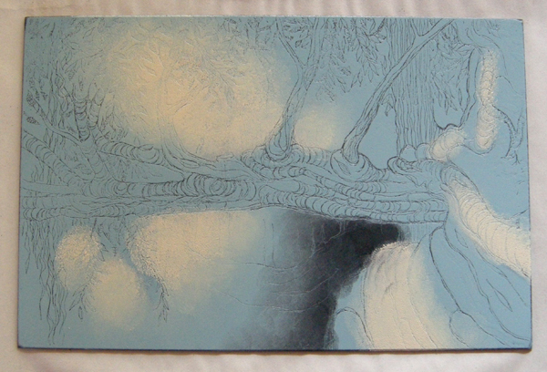 Kitty Watt  Trees at Crathes  inked plate
